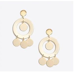 J.Crew gold circle statement earrings